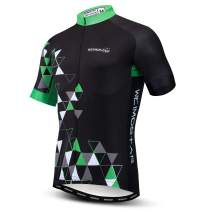 Men's Cycling Jersey Short Sleeve Bike Shirts Bicycle Jacket with Pockets