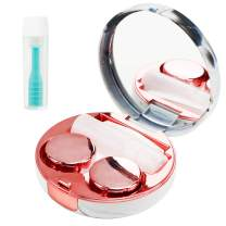Contact Lens Case with Large Contact Remover, Contact Lenses Case Kit with Mirror for Travel, Rose Gold, is Your Travel Outdoor Choice