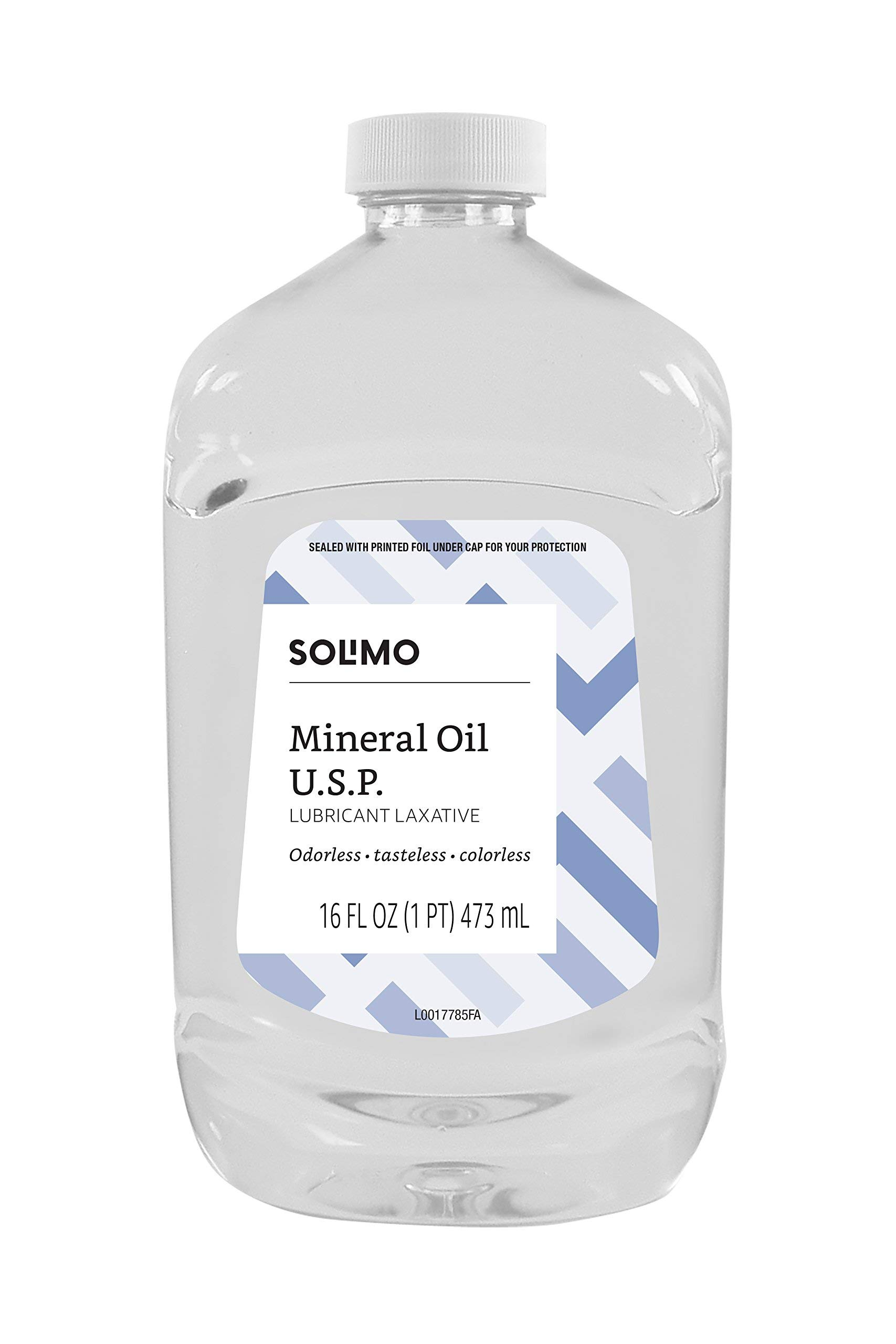 Amazon Brand - Solimo Lubricant Laxative Mineral Oil U.S.P, 16 Fluid Ounce