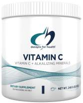Designs for Health Buffered Vitamin C Powder 2000mg - High Dose Vitamin C with Alkalizing Minerals (80 Servings / 240g)