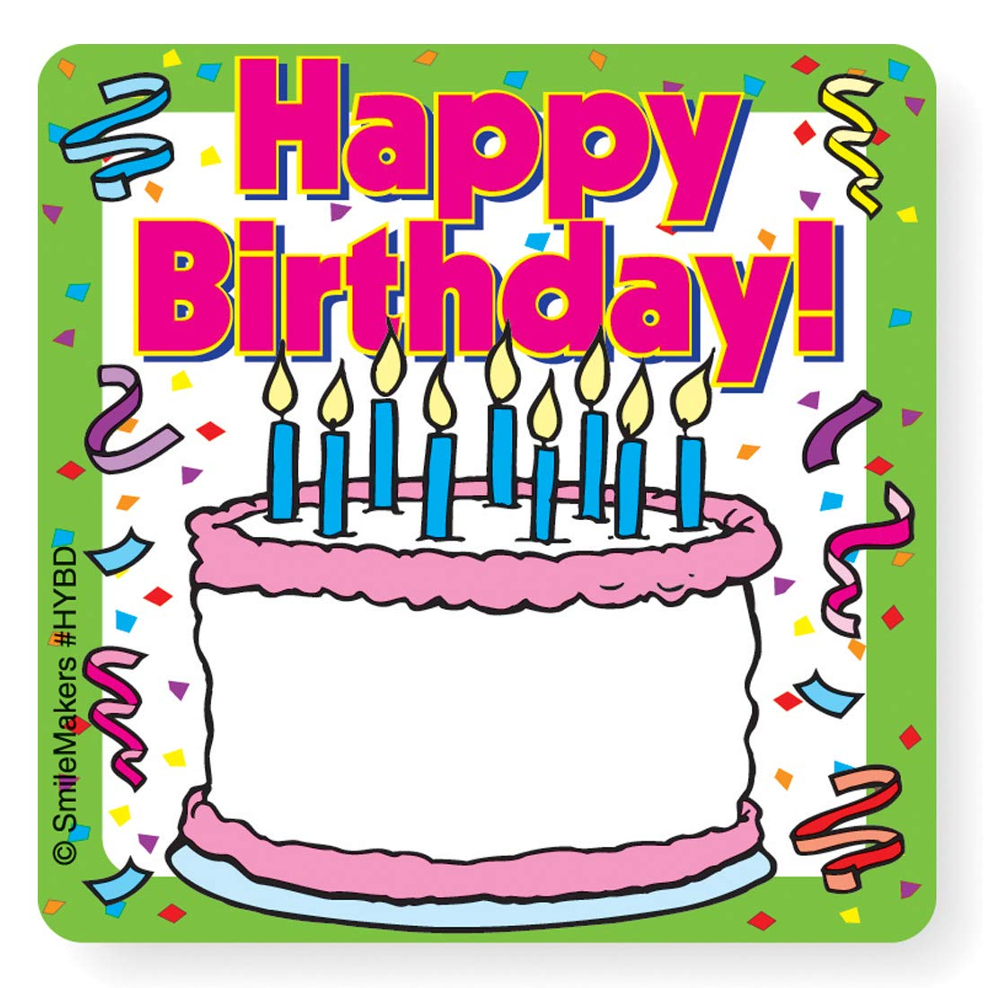 Happy Birthday (Your Name) Stickers - 100 Per Pack