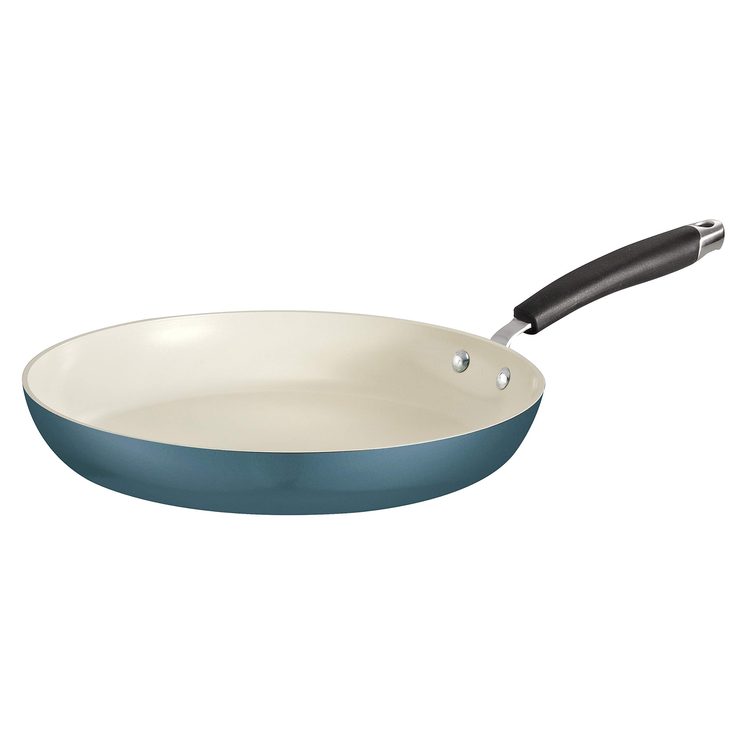 Tramontina 80110/074DS Style Ceramica Fry Pan, 12-inch, Mediterranean Blue, Made in Italy