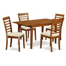 5 Pc dinette set - Table with Leaf and 4 Dining Chairs