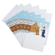 Hallmark 0599XXH2125 Shoebox Funny Christmas Cards Pack, Gingerbread House (6 Cards with Envelopes)