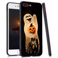 LuGeKe Halloween Ghost Cat Print Hybrid Phone Case for iPhone 11 Pro Soft TPU Frame Hard PC Back Cover for iPhone Shockproof Scratch Resistant