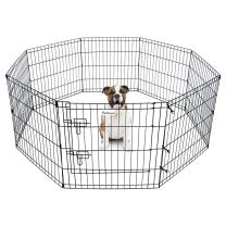 """Pet Dog Playpen Foldable Exercise Pen Metal Yard Fence/Portable for Travel Camping 8 Panel-24 (24"""")"""