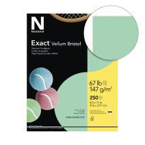 Wausau Vellum Bristol Cardstock, 67 lb, 8.5 x 11 Inch, Pastel Green, 250 Sheets (81358)
