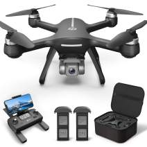 Holy Stone HS700E 4K UHD Drone with EIS Anti Shake 130°FOV Camera for Adults, GPS Quadcopter with 5GHz FPV Transmission, Brushless Motor, Easy Auto Return Home, Follow Me and Outdoor Carrying Case