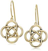 Plated 925 Sterling Silver Celtic Knot Drop Earrings