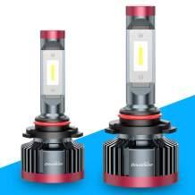 DriveVision 9006 / HB4 LED Headlight Bulb Conversion Kit, 8000 Lumens, 6000K Xenon-White, UltraBright DX4000 Series – 2 Year Warranty…
