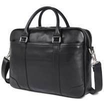 "Polare 15.6"" Retro Genuine Leather Laptop Messenger Bag Office Briefcase"