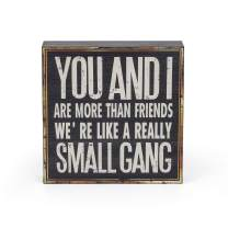 Adeco Wood Classic Box Sign Decor,You and I are More Than Friends, for Living Room, Bedroom, Kitchen, Gift