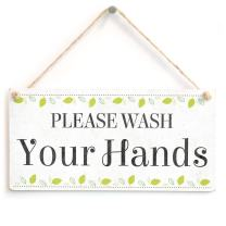 """Meijiafei Please Wash Your Hands - Beautiful Bathroom Home Accessory Novelty Gift Sign/Plaque 10""""x5"""""""