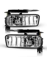Fog Lights For 2002-2006 Cadillac Escalade, 2003-2005 Cadillac Escalade ESV OEM Replacement Fog Lamps 2PCS With Clear Lens AUTOWIKI