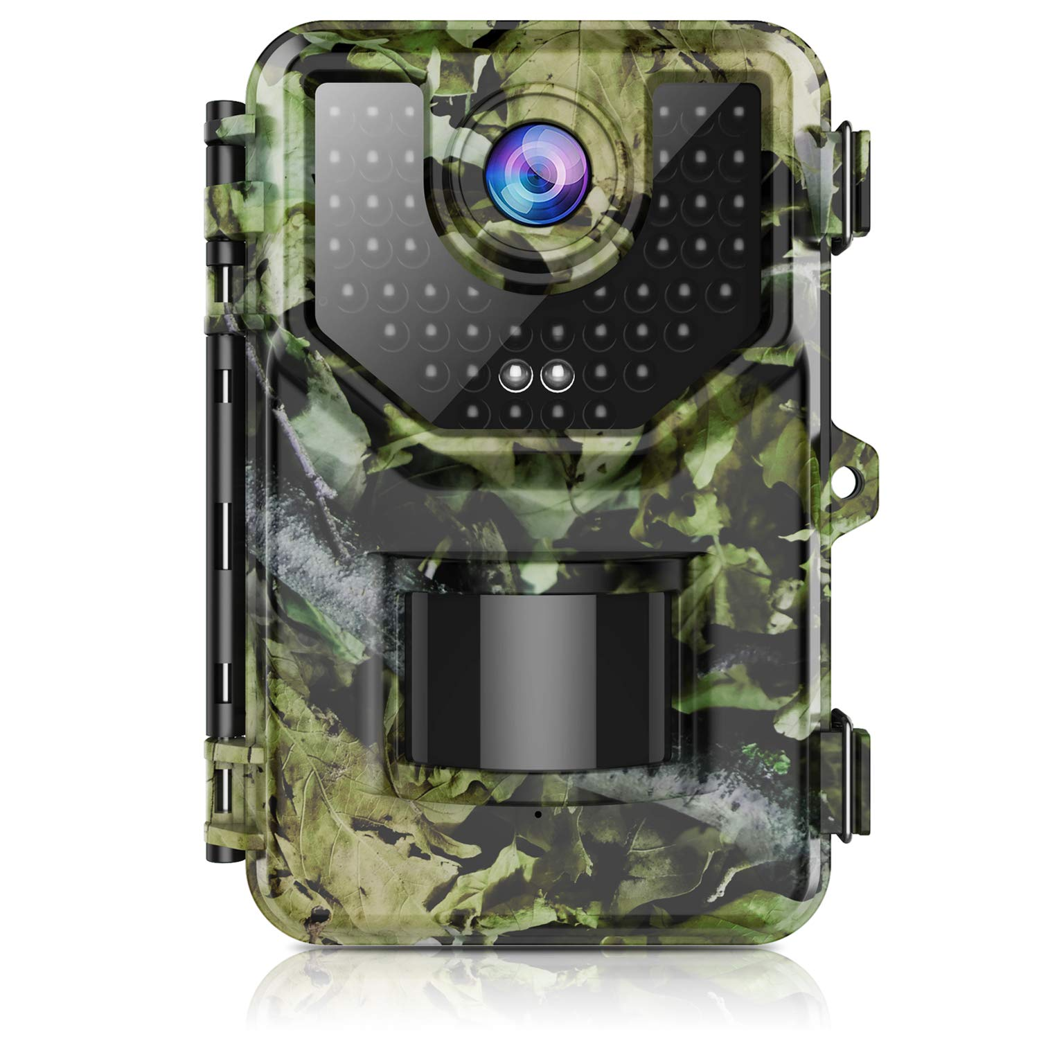 """Trail Camera, Hunting Camera with 120° Wide-Angle Motion Latest Sensor View 0.2s Trigger Time 1080P 16MP Trail Game Camera with 940nm No Glow and IP66 Waterproof 2.4"""" LCD 48pcs for Wildlife Monitoring"""
