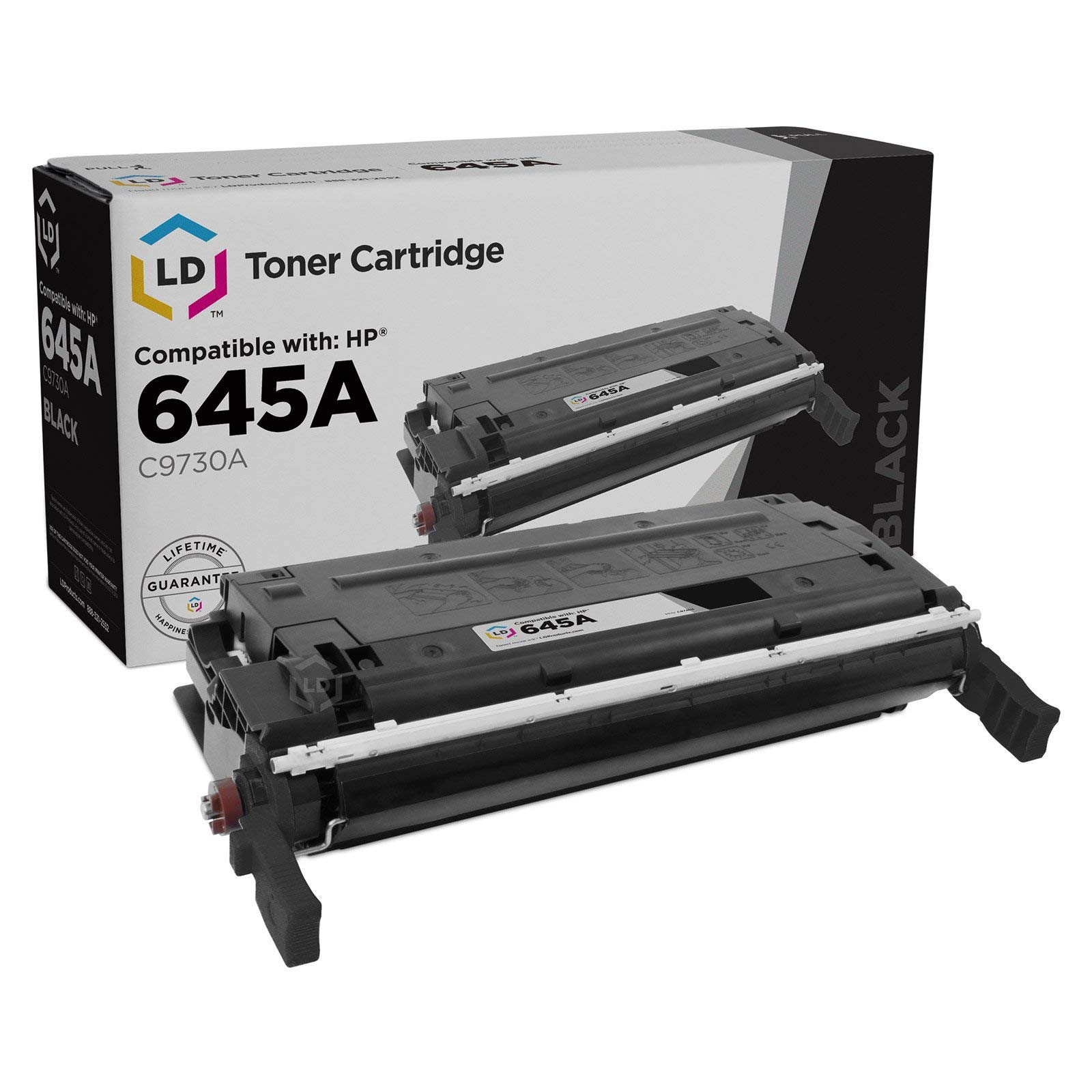 LD Remanufactured Toner Cartridge Replacement for HP 645A C9730A (Black)