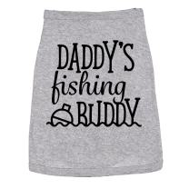 Dog Shirt Daddys Fishing Buddy Cute Clothes for Pet Puppy