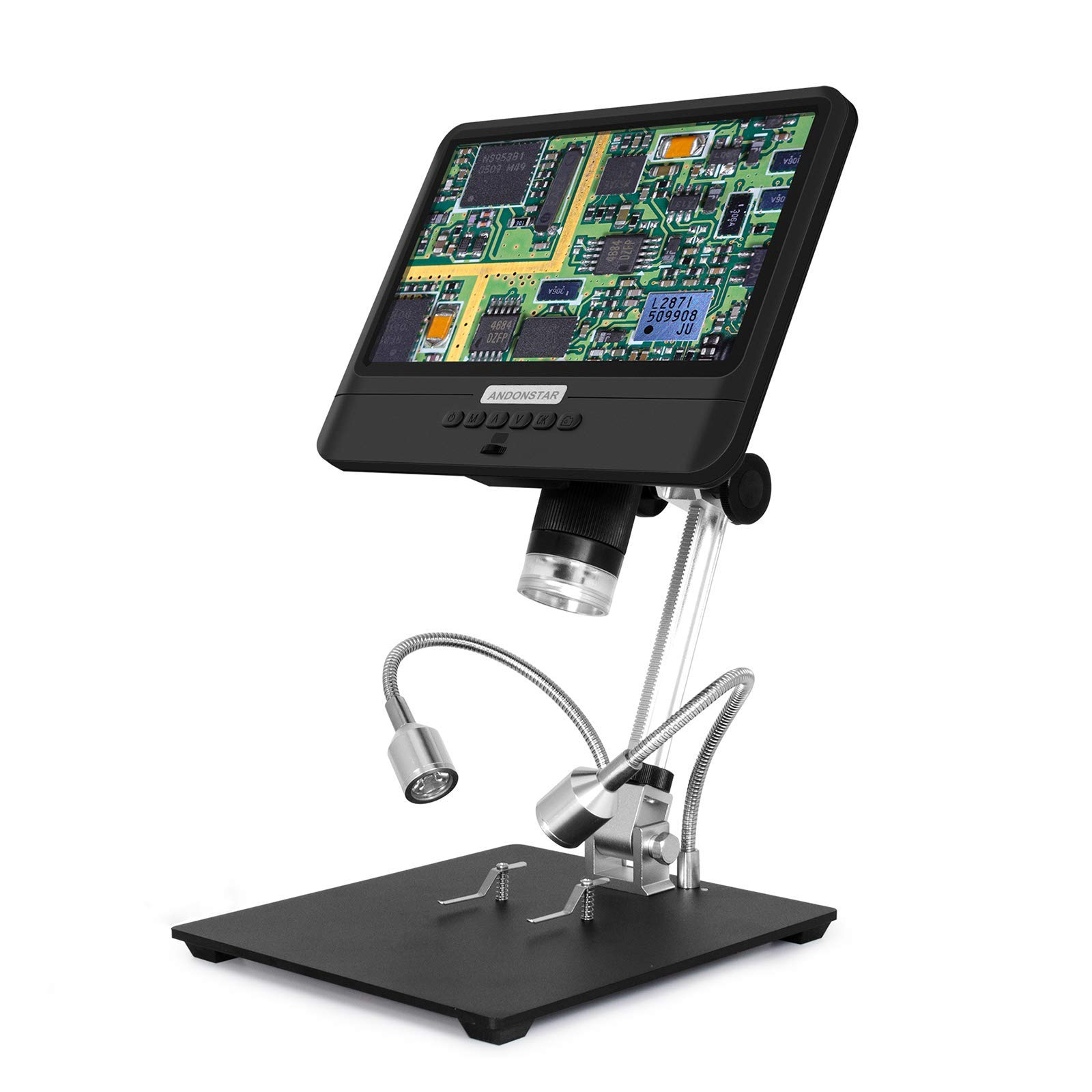 Andonstar AD208 USB Digital Microscope with Adjustable 8.5-inch LCD Display HD 1080P Image Video Camera for Coin Collection, PCB Inspection, SMT/SMD Soldering and Phone Repair