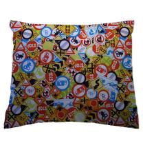 SheetWorld Crib / Toddler Percale Baby Pillow Case - Traffic Signs - Made In USA