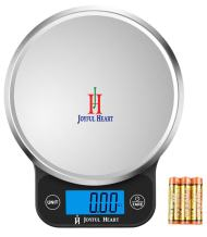 Digital Food Scale Kitchen Weight Scale - Joyful Heart Multifunction Postal Scale, Backlit LCD Display, 1g to 13lbs, 1Yr Warranty, Batteries Included (Black)