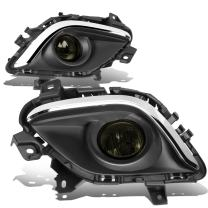 Replacement for Mazda 6 Driving Bumper Fog Light + Bezel Covers + Wiring + Switch (Chrome Trim Smoked Lens) GJ1
