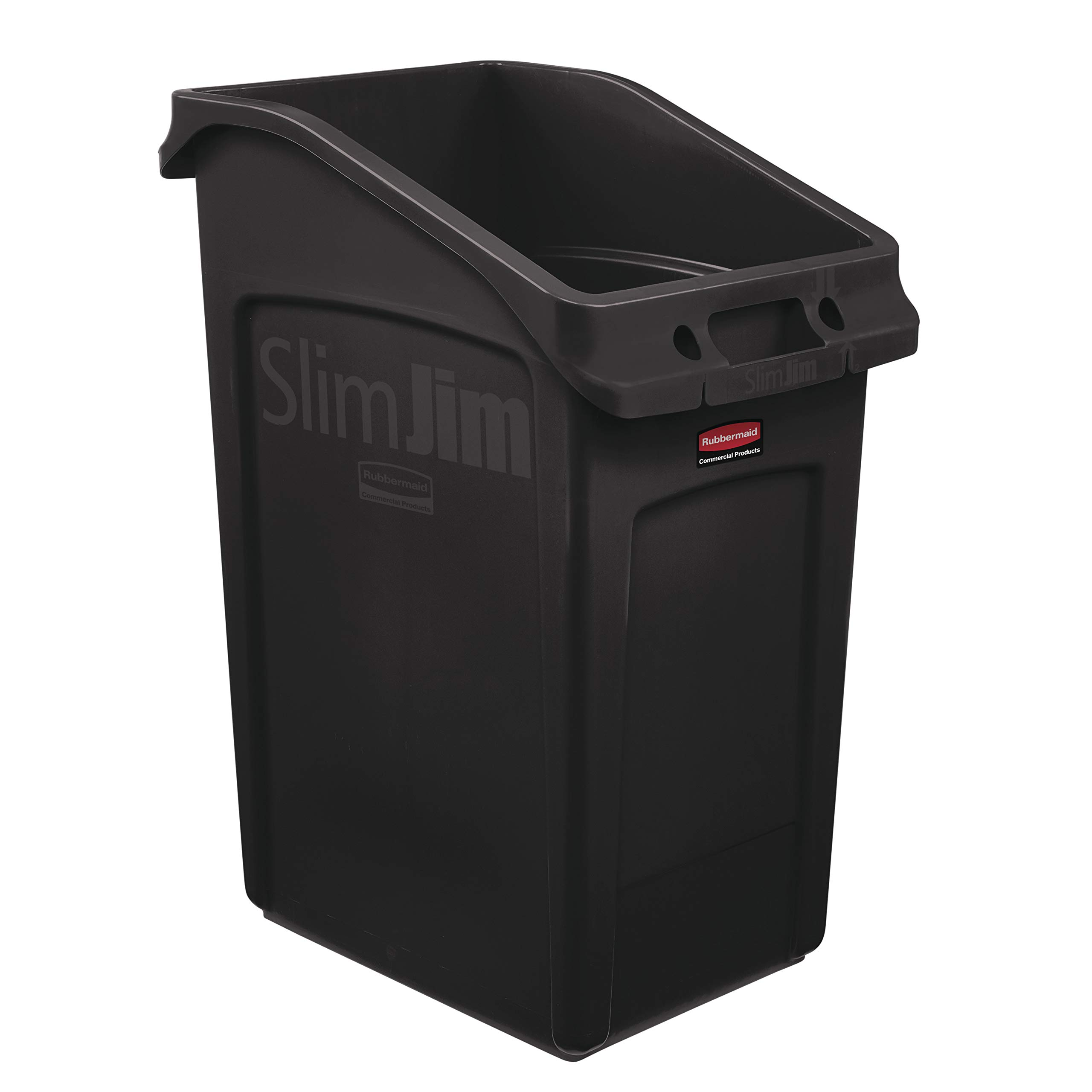 Rubbermaid Commercial Products 2026723 Slim Jim Under-Counter Trash Can with Venting Channels, 23 Gallon, Brown