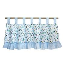 Brandream Girls Window Valance Floral Curtain Valance Ruffle Chic Window Treatment Watercolor Floral Collection for Baby Infant Toddler Girls Nursery Living Bedroom Decor, Baby Shower Gift