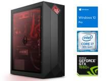 HP OMEN Obelisk 875 Desktop, Intel Core i7-9700 Upto 4.7GHz, 16GB RAM, 1TB NVMe SSD + 1TB HDD, NVIDIA GeForce GTX 1660 Ti, HDMI, DisplayPort, DVI, Wi-Fi, Bluetooth, Windows 10 Pro
