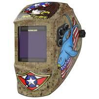 YESWELDER Large Viewing Solar Powered Auto Darkening Welding Helmet, True Color Highest Optical 1/1/1/1, 4 Arc Sensor Wide Shade 4/5-9/9-13 Welder Mask Hood EH-091XP
