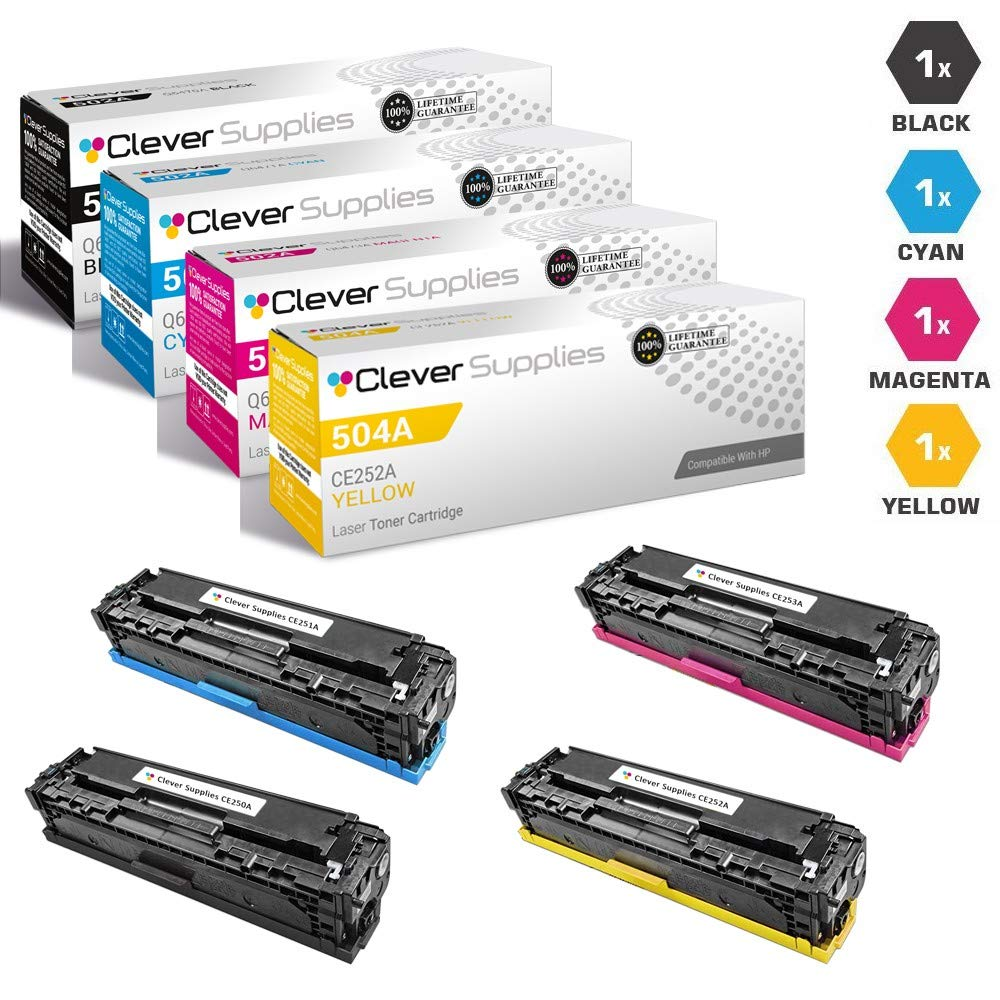 CS Compatible Toner Cartridge Replacement for HP CP4525dn CE260A Black CE261A Cyan CE262A Yellow CE263A Magenta HP 647A /& HP 648A Color Laserjet CP4000 CP4500 CP4025dn CP4525xh CP4025n 5 Color Set