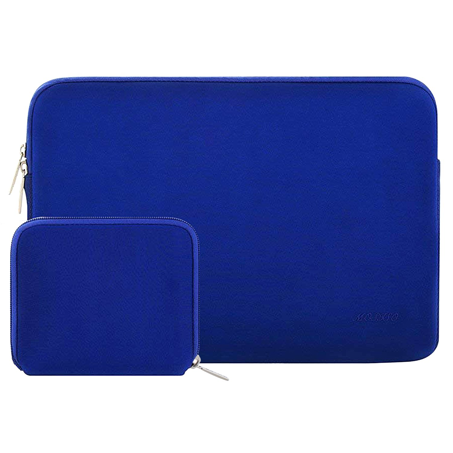 MOSISO Laptop Sleeve Compatible with 2019 2018 MacBook Air 13 inch A1932, 13 inch MacBook Pro A2159 A1989 A1706 A1708, Notebook, Water Repellent Neoprene Bag with Small Case, Royal Blue