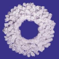 Vickerman Crystal Spruce Wreath-Unlit, 24-Inch, White
