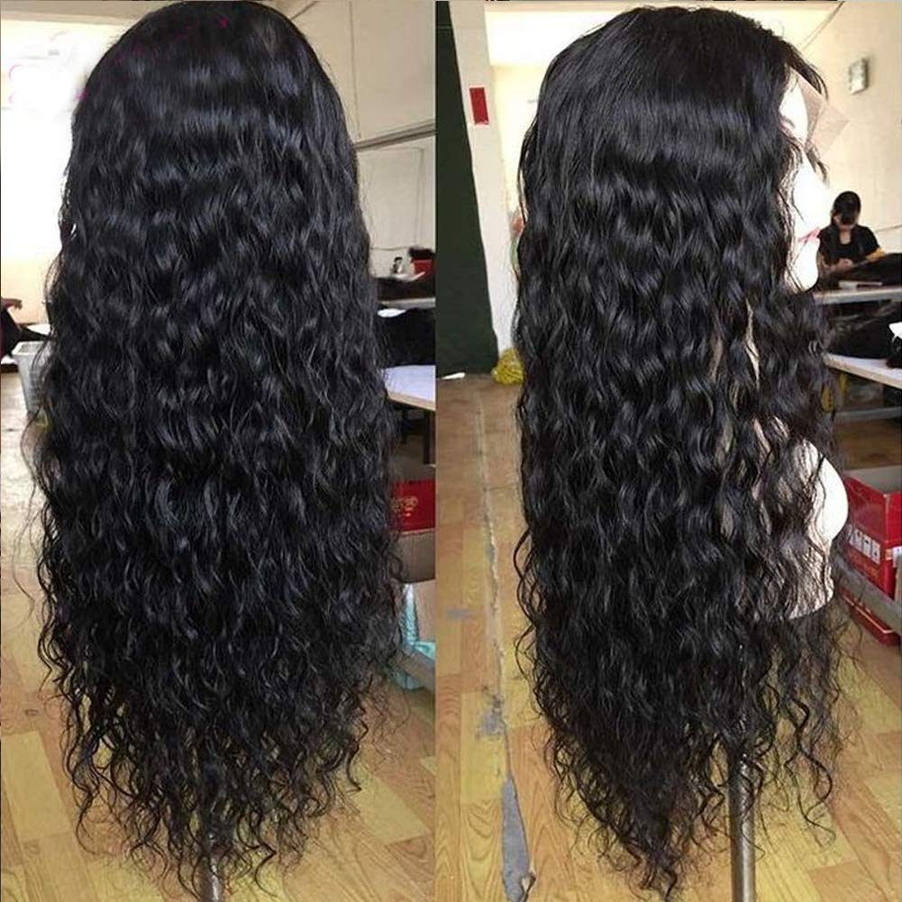Water Wave Lace Front Wigs Human Hair Wet and Wavy Wigs for Black Women 150% Density Ocean Wave Lace Frontal Wigs Brazilian Remy Hair Wigs Pre-Plucked Hairline with Baby Hair(20 Inch, Water Wave)
