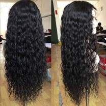 Water Wave Lace Front Wigs Human Hair Wet and Wavy Wigs for Black Women 150% Density Ocean Wave Lace Frontal Wigs Brazilian Remy Hair Wigs Pre-Plucked Hairline with Baby Hair(18 Inch, Water Wave)