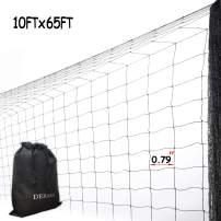 Bird Netting Protect Plants and Fruit Trees - Extra Strong Garden Net is Easy to Use, Doesn't Tangle and Reusable - Lasting Protection (10ft x 65ft)