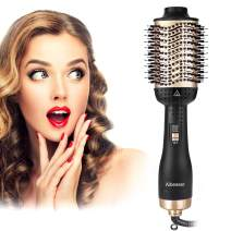 Aibesser Hair Dryer Brush,One-Step Hair Dryer & Volumizer Hot Air Styler Brush,5 in 1 Multifunctional Blow Dryer Brush, Professional Negative Ion Anti-Frizz Hair Dryer Styler Brush