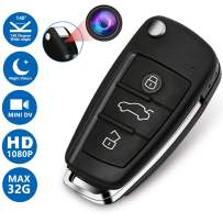 Aukfa Mini Keychain Camera,Portable Car key Camera with night and DVR Function-HD-1080P-Built-in Rechargeable Battery for Home or Office