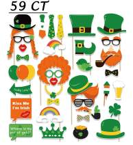 59Ct St. Patrick's Day Photo Booth Props - Shamrock Irish Party Supplies Decorations