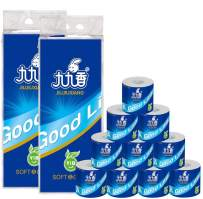 12 Rolls 4 Layers Toilet Roll Paper ,Soft Absorbent Paper Towel Roll,Solid Roll Paper Hollow Roll Paper,100% Natural Wood Pulp Toilet Paper Bath Towels Tissue.