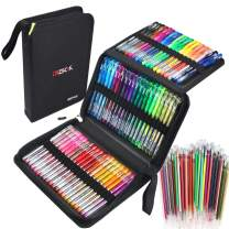 ZSCM 120 Pack Glitter Gel Pens Set 60 Colored Gel Pen with 60 Colorful Refills for Adults Kids Coloring Books Drawing Writing Doodling Scrapbooking