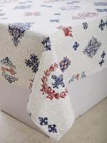 "Table Cloth - Royal Vintage, 100% Cotton, Rectangular Table Cloth of Size 60""X102 Inch, Eco - Friendly & Safe."