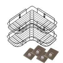 2 Pack-Adhesive Corner Bathroom Shelf Storage Wall Mounted Shower Caddy Shelf Organizer for Kitchen Toilet,SUS304 Stainless Steel Rustproof No Drilling