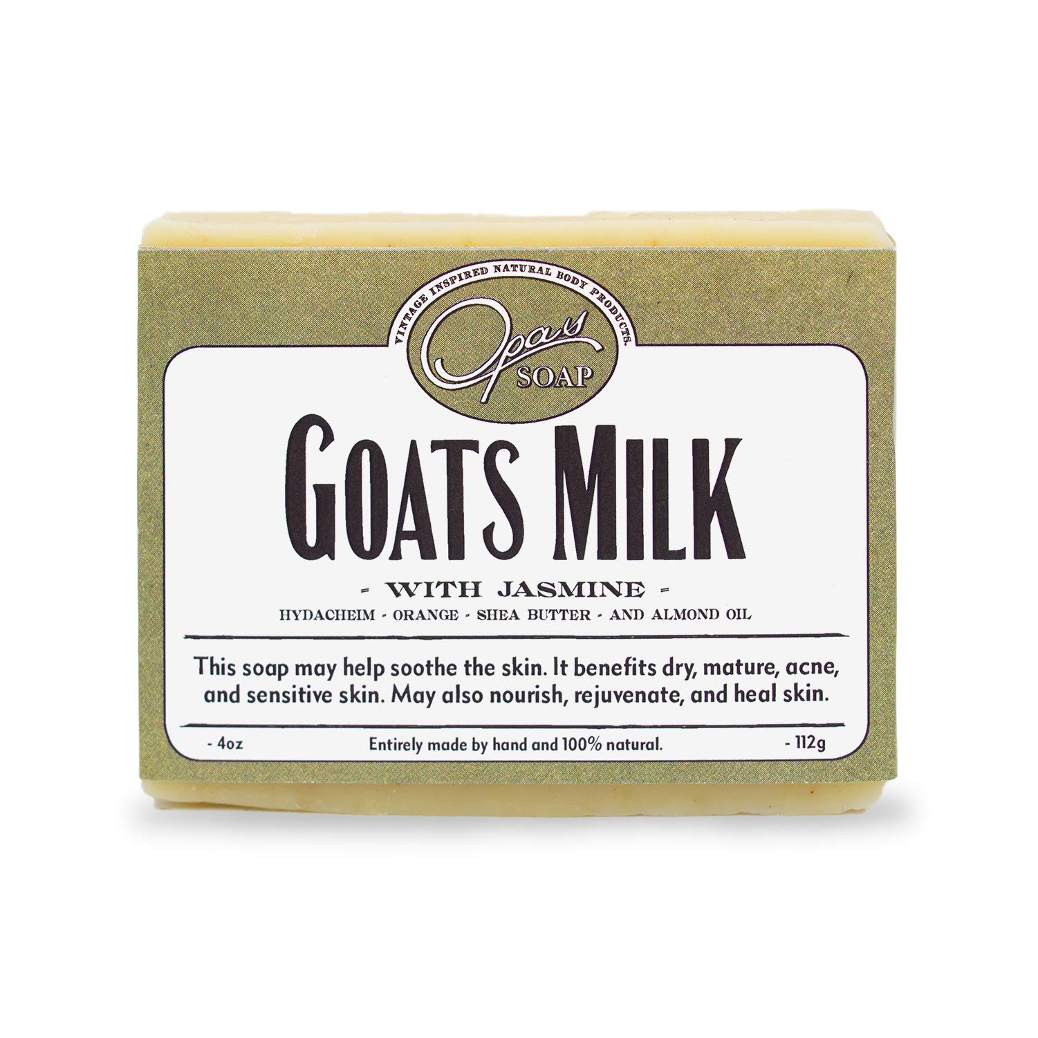 The Best Goats Milk Soap, 100% Natural, Carcinogen Free, Cold Processed, Organic Jojoba - Flowery Citrus Scent - Made with Natural Essential Oils of Jasmine and Mandarin