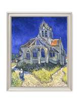 DECORARTS - The Church at Auvers, Vincent Van Gogh Art Reproduction. Giclee Print& Framed Art for Wall Decor. Picture Size: 16x20, Framed Size: 19x23
