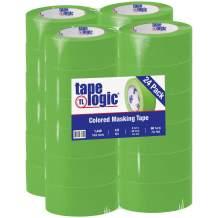 "Partners Brand PT937003A Tape Logic Masking Tape, 2"" x 60 yd, Light Green (Pack of 24)"