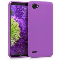 kwmobile TPU Silicone Case Compatible with LG Q6 / Q6+ - Soft Flexible Protective Phone Cover - Pastel Purple