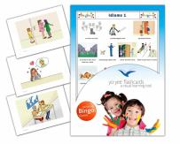 Yo-Yee Flashcards - Idioms Flash Cards with Matching Bingo Game Cards - Set 1 - Vocabulary Picture Cards for Toddlers, Kids, Children and Adults