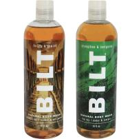"""BILT Natural Body Wash for Men 16 oz,""""Rugged"""" Variety Set of 2: Big Sky & Prohibition"""