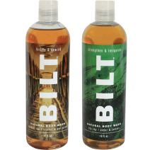 "BILT Natural Body Wash for Men 16 oz,""Rugged"" Variety Set of 2: Big Sky & Prohibition"