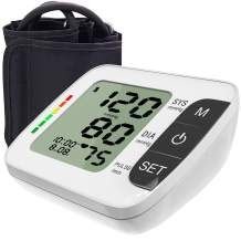 """Hong S Blood Pressure Monitor [2019 Update] Upper Arm Fully Automatic Accurate Clinical Blood Pressure & Pulse Rate Monitor with 120 Reading Memory for 2 User, 8.6""""-14.2"""" Cuff Size"""